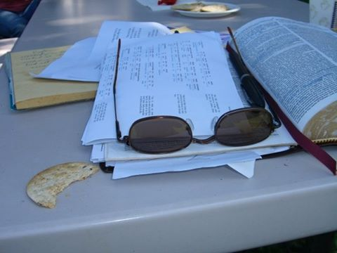 Bible glasses snack